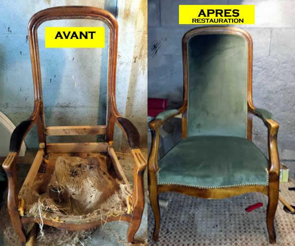 Fauteuil Avant Et Apres Restauration Depasse