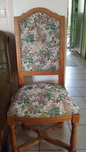 Nos r alisations tapisserie cannage rempaillage yvelines for Cannage chaise paris